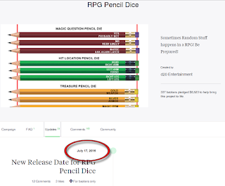 "Ken ""Whit"" Whitman has Given up all Pretense of Fulfilling the RPG Pencil Dice Kickstarter"