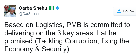 Nigerians drag Buhari's aide Garba Shehu for using 'Based on Logistics' in a tweet #BBNaija