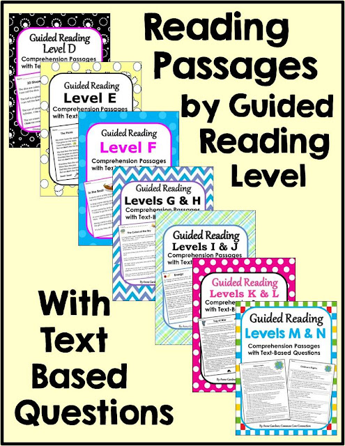 Common Core Connection : Reading Comprehension Passages and iPad ...