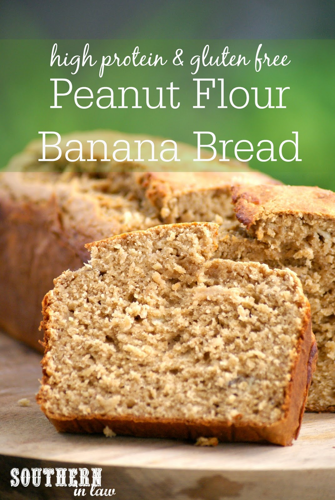 Healthy High Protein Peanut Butter Banana Bread Recipe - low fat, gluten free, healthy, high protein, sugar free, freezable recipe, freezer recipe