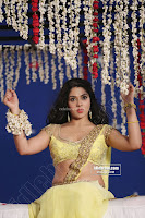 Sakshi Chodary in Yellow Transparent Sareei Choli Spicy Pics 07 .xyz.jpg