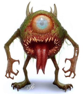 assustador desenho Wazowski