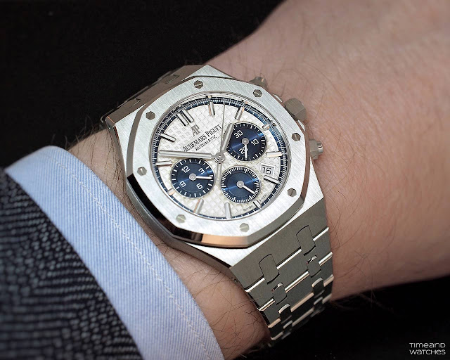 Wristshot of the Audemars Piguet Royal Oak Chronograph 38 mm