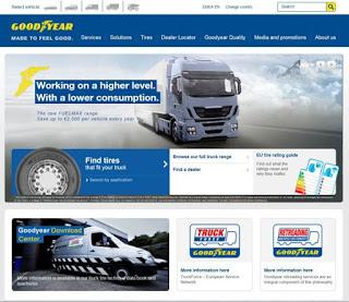 Noul website pentru anvelope de camion de la Goodyear