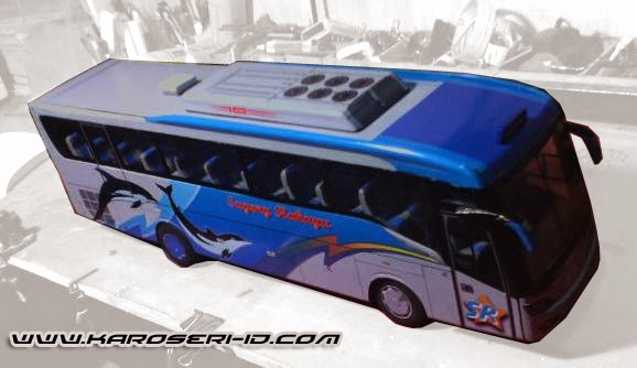 Miniatur Bus Discovery Sugeng Rahayu Top