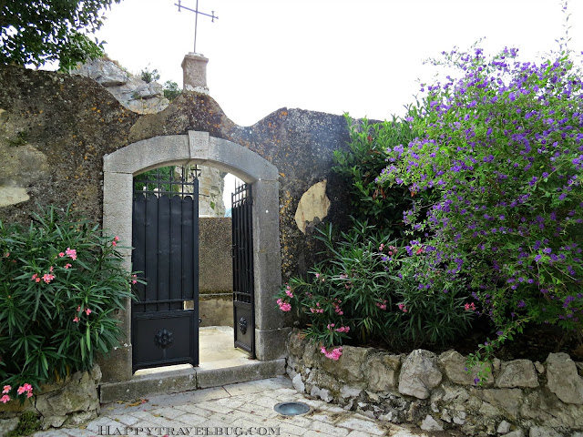 Opening to the cemetery in Eze, France