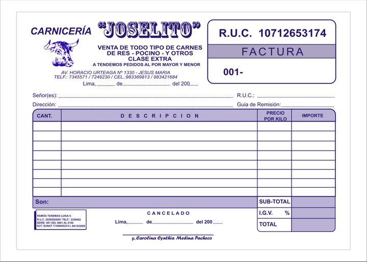 Imprenta punto gr fico tarjetas boletas calendarios tipos for Nomina en blanco para rellenar word