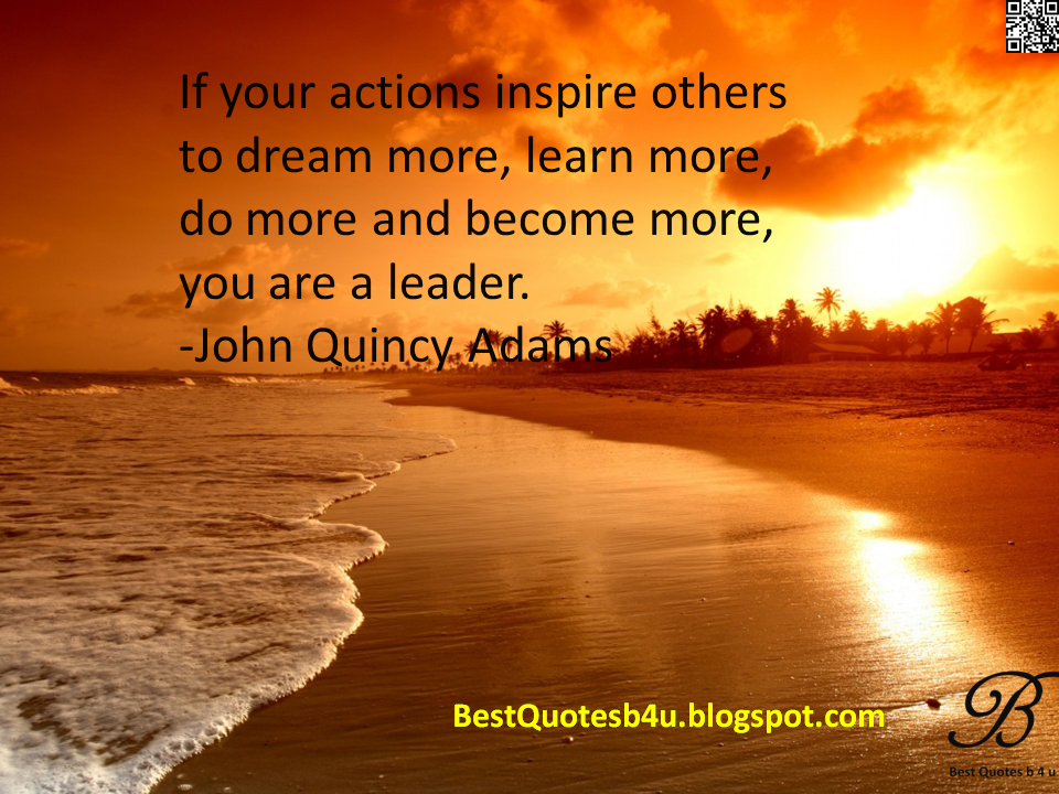 Latest Best English Quotes with Images and wallpapers John Quinchy Adams sayings thoughts inspirations quotes about Leadership