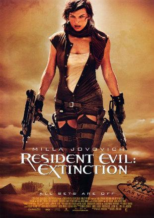 Poster of Resident Evil: Extinction 2007 Hindi English BRRip 720p Dual Audio