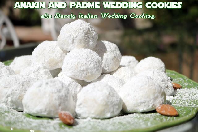 Barely Italian Wedding Cookies Recipe AKA Star Wars Wedding Cookies