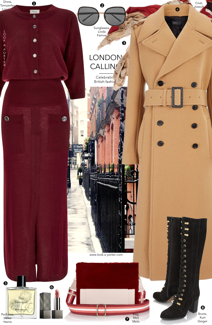 Another outfit idea inspired by London fashion week and British fashion designers and brands, and styled with new and ironic brands featuring Temperley, Meli Melo, Kurt Geiger, Joseph, Burberry and more via www.look-a-porter.com, style & fashion blog
