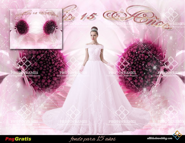Beautiful Pink Background Stock For Quinceanera