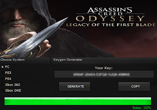 ASSASSIN'S CREED ODYSSEY: LEGACY OF THE FIRST BLADE KEY GENERATOR KEYGEN FOR FULL GAME + CRACK