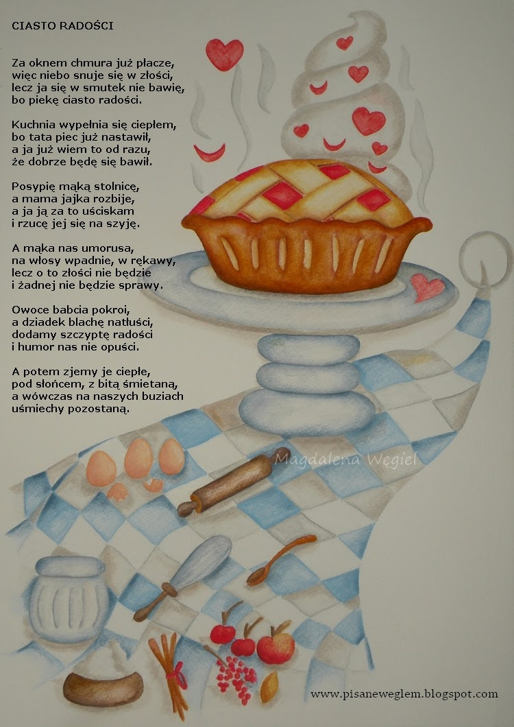Pisane Węglem Czyli Magdalena Węgiel Dla Dzieci Ciasto