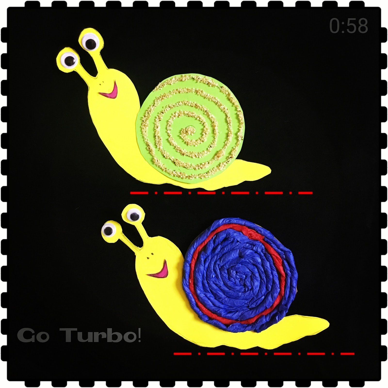 The Joy Of Sharing Paper Snail Craft