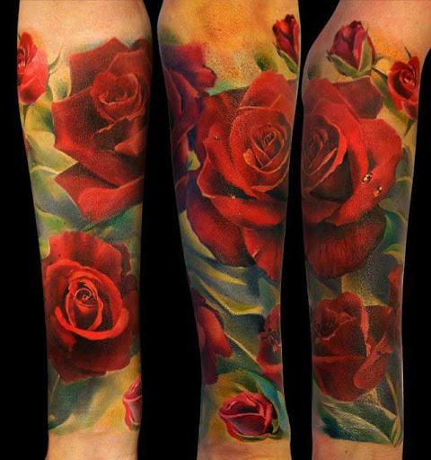 Estes carmesim de rosas