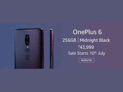 OnePlus 6 Midnight Black 8GB RAM, 256GB Storage