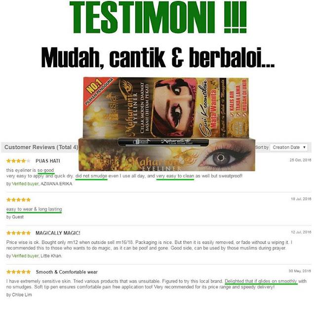 Testimoni Maharani Eyeliner V'asia