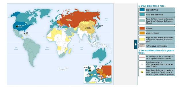 Carte Du Monde Pendant La Guerre Froide.Premiere S La Guerre Froide Conflit Ideologique Conflit