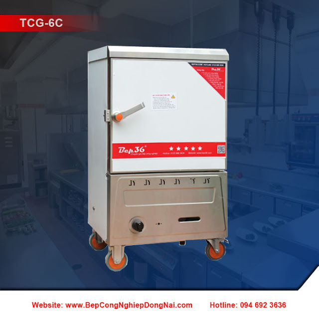 Tủ nấu cơm 6 khay dùng gas TCG-6C