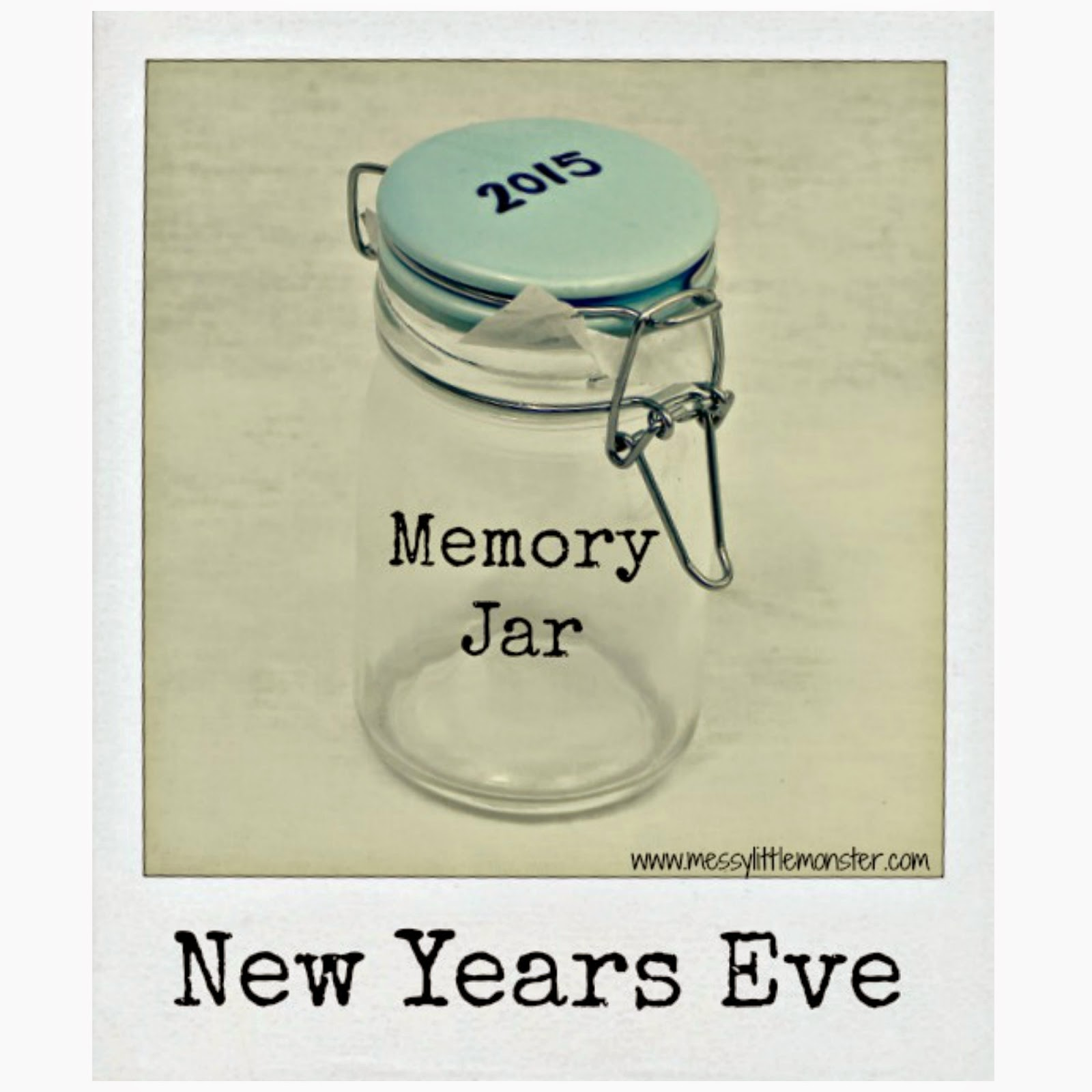 Make a New Years Eve memory jar or  time capsule and create a new family tradition. This keepsake is lots of fun to look back on.