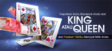 Bermain di Blackjack Kasino Live Klub M88 Freebet 150 Ribu