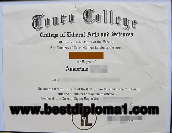 Touro College fake diploma