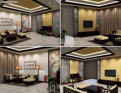 Modern Chinese Living Room