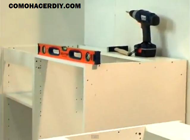 Cocina de melamina colocar muebles bajo mesada vídeo-4 | Web del ...