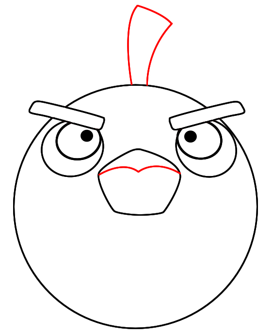 how to draw angry birds bomb bird draw central