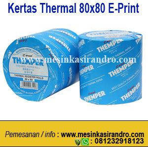 kertas thermal merk e-print disurabaya ukuran 80x80