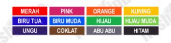 pilihan produk order pesan stempel aneka warna murah, pilihan produk order pesan stempel aneka warna online, pilihan produk order pesan stempel aneka warna flashindo
