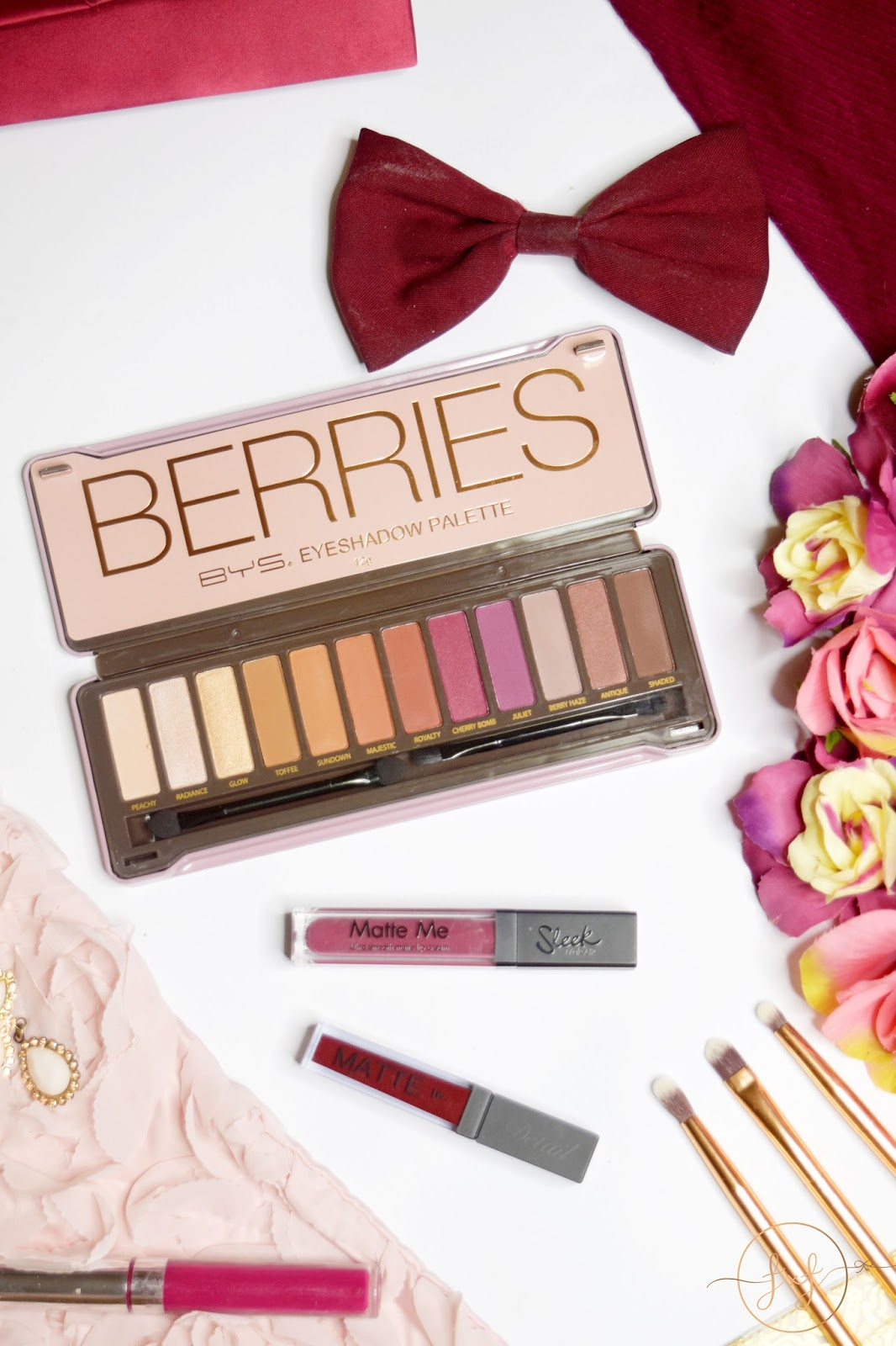 BYS Berries Eyeshadow Palette | Review & Swatches