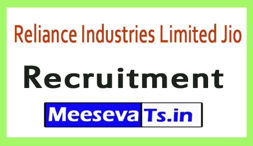 Reliance Industries Limited Jio Recruitment