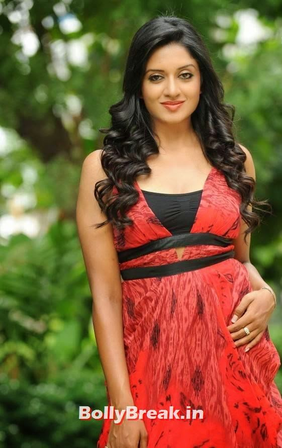 , Vimala Raman in Red Dress - Hot New Images