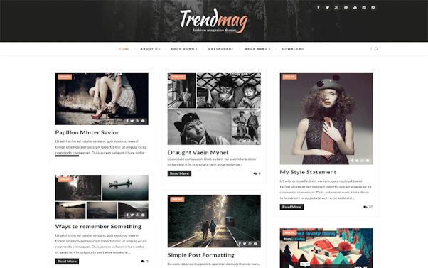 TrendMag Free Blogger Template