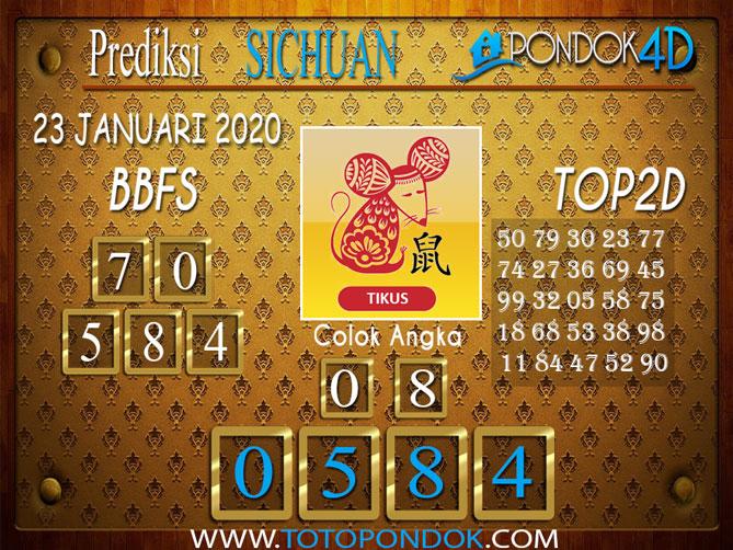 Prediksi Togel SICHUAN PONDOK4D 23 JANUARI 2020