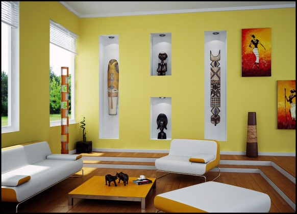 unique living room paint