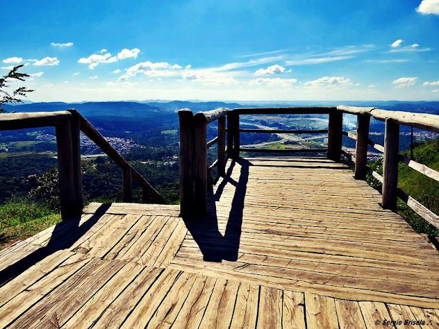 Visão do mirante de madeira do Pico do Jaraguá - São Paulo