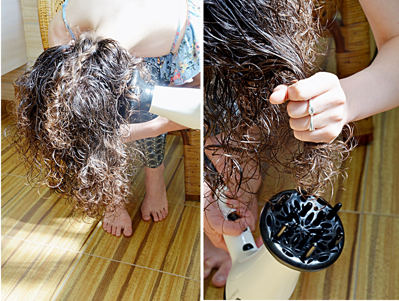 Kręcone włosy, loki, pielęgnacja włosów kręconych, jak dbać o włosy kręcone, podkreślenie skrętu loków, skręt, dyfuzor, suszarka