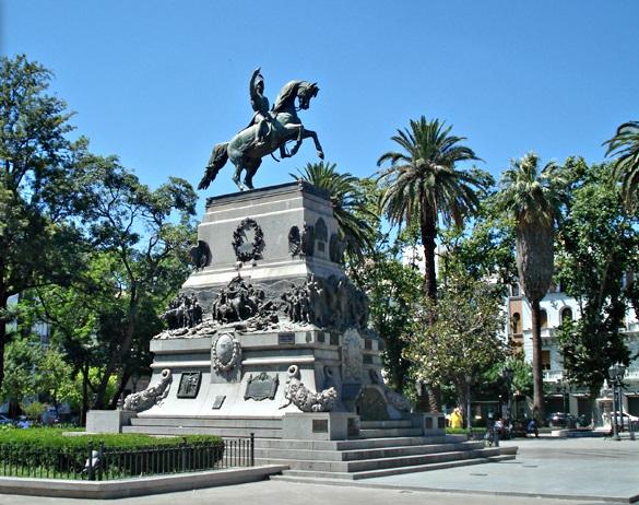 Plaza San Martín no verão