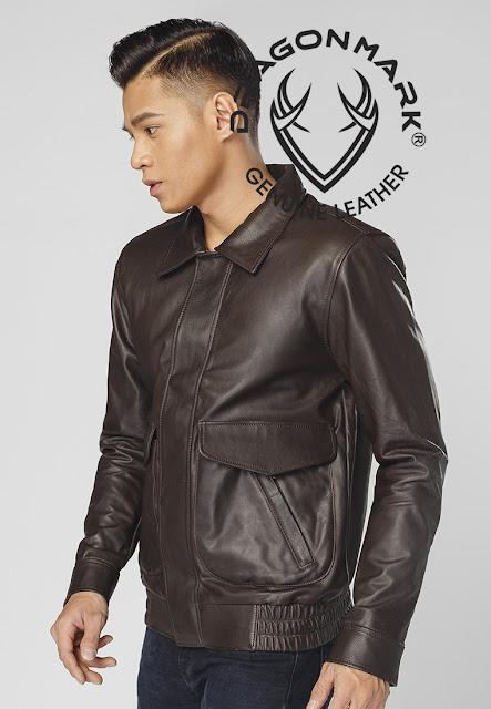 áo khoác da nam xịn