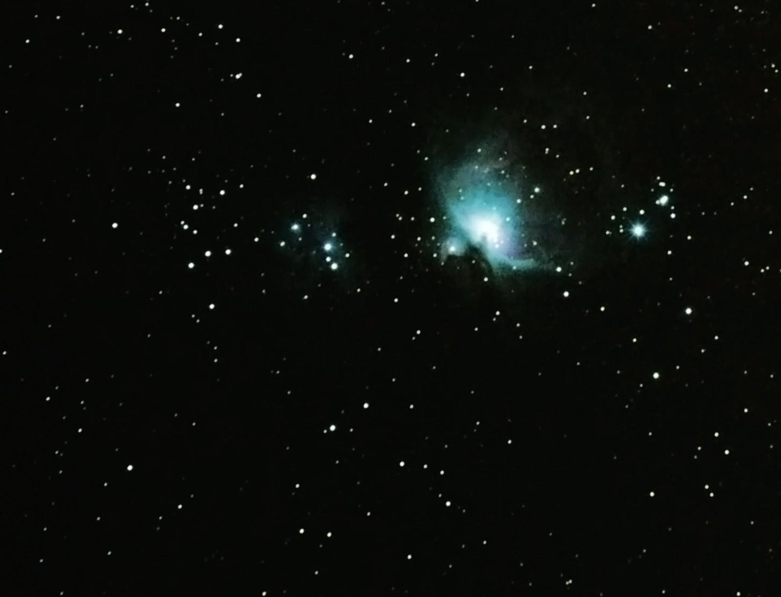Ian S Pixels Blog M42 Orion Nebula Using My Diy Barn Door