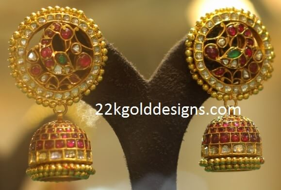 Traditional Peacock Design Jhumkas