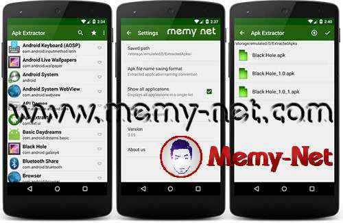 Application Extract applications from phone to APK files