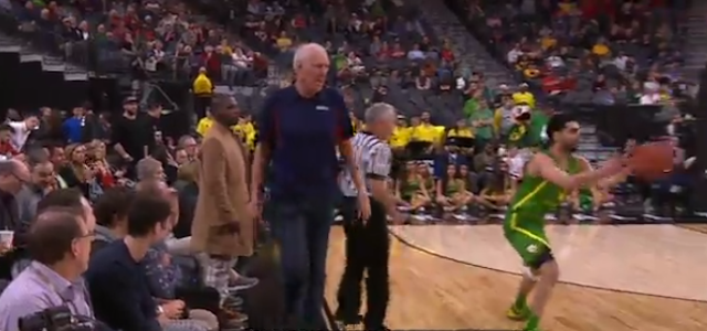 Bill Walton returns from overtime during Arizona State-Oregon OT