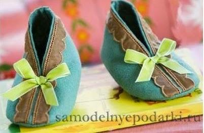 patrón zapatillas de fieltro para bebé