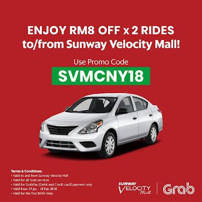 Sunway Velocity Mall Grab Promo Code