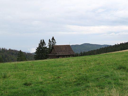 Bacówka na Hali Długiej.