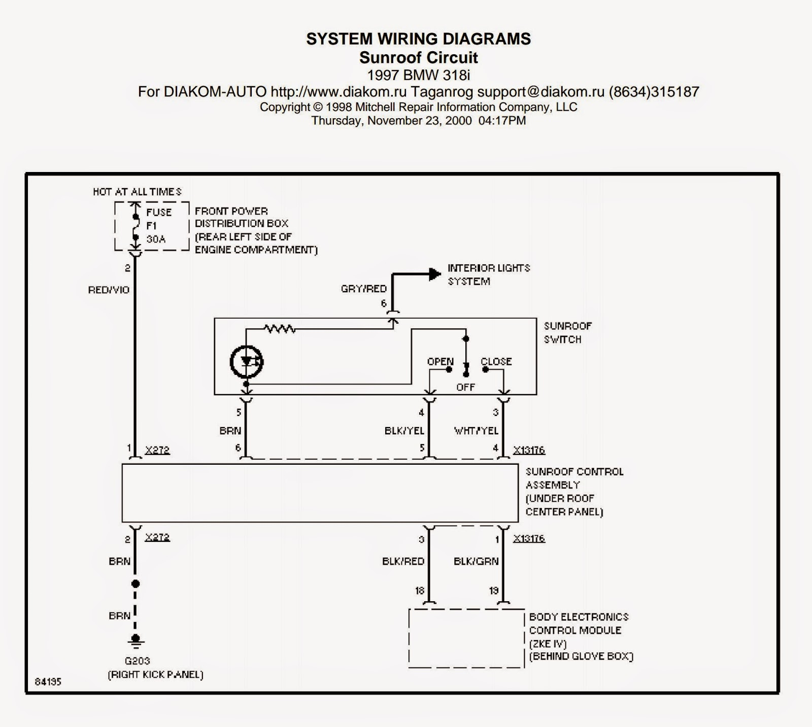 Golf 3 Sunroof Wiring Diagram Telecaster Way Switch Diagrams And Free Manual Ebooks 1997 Bmw 318i